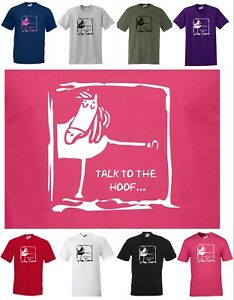 6b535619b Talk To The Hoof... FUNNY HORSE / PONY T-SHIRT, Small to 5XL Regular ...
