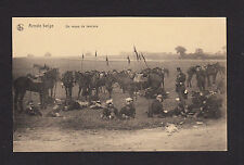 37906/ AK - Armée belge - Un repos de lanciers - *