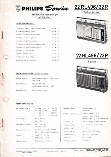 service manual instructions for philips 22 rl 496 taifun de luxe rh ebay com au Ascona Switzerland Ascona Pizza Company Pleasanton