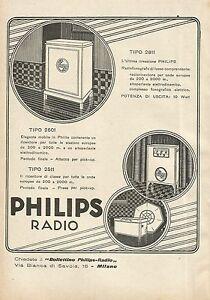 Y0580 Radiofonografo di lusso PHILIPS - Pubblicità d'epoca - Advertising