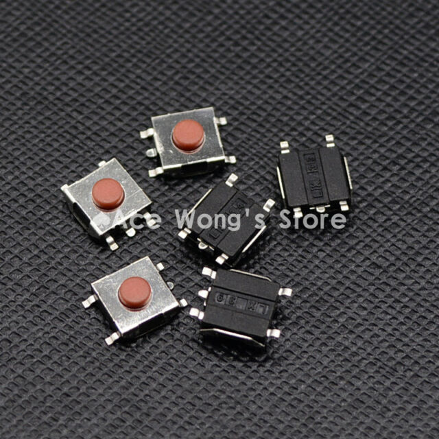 100PCS 6×6×5mm Tact Tactile Push Button Switch SMD-4Pin NEW