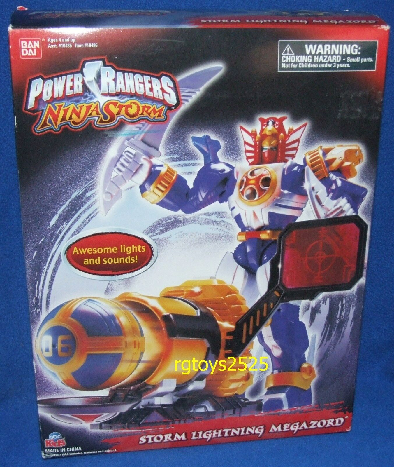 Power Rangers Ninja Storm STORM LIGHTING MEGAZORD New w w w Lights & Sounds  2003 bd1ecc