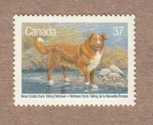 HUNTING DOG = DUCK TROLLING RETRIEVER = Canada 1988 # 1218 MNH Stamp