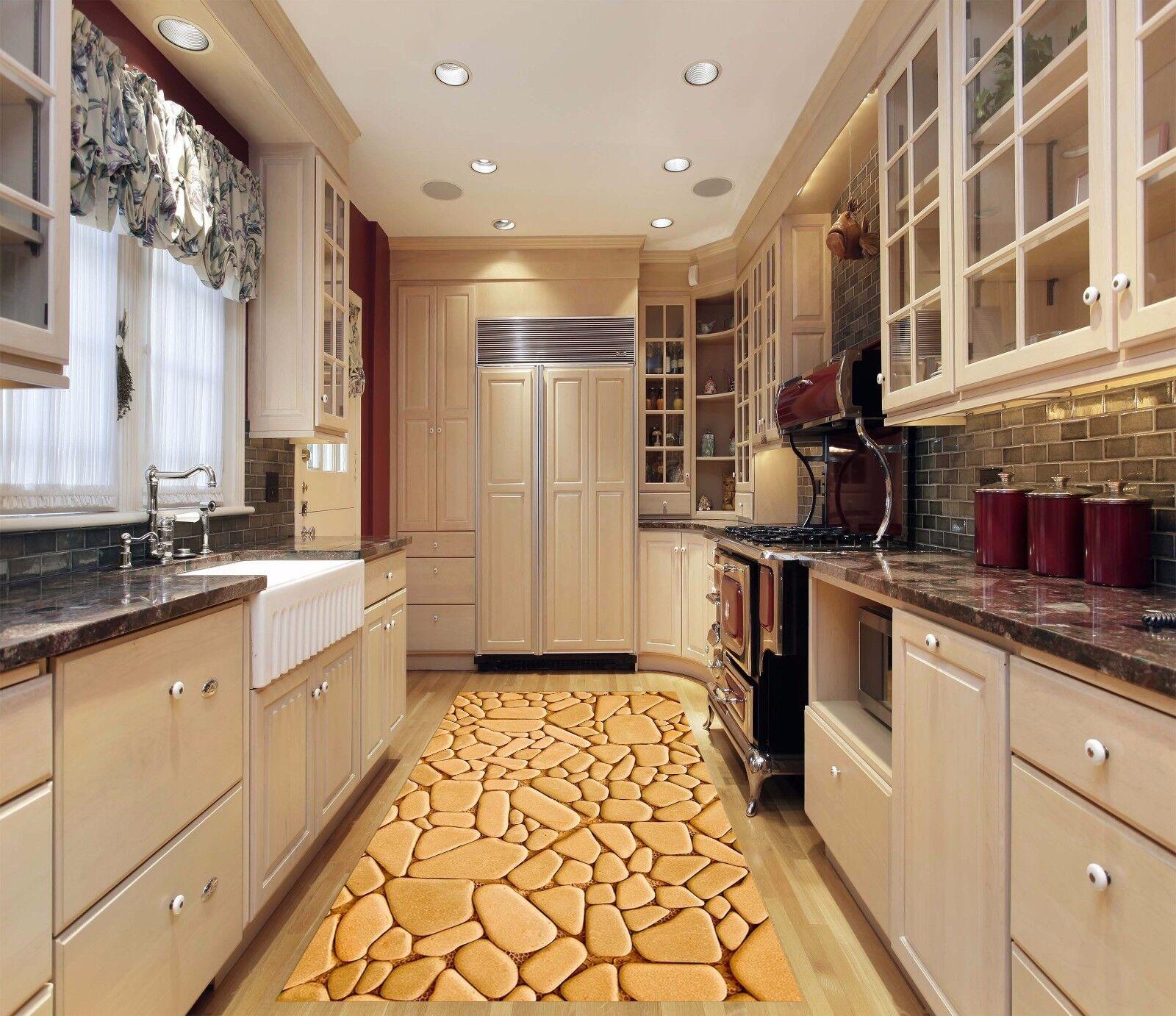 3D Yellow Stone 55 Kitchen Mat Floor Murals Wall Print Wall AJ WALLPAPER AU Kyra