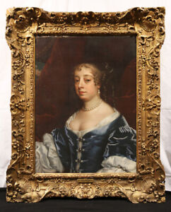 """Attr. to Sir Peter Lely, 17th Century British Oil Painting """"Lady Middleton"""""""