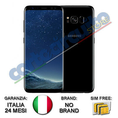 "SAMSUNG GALAXY S8 MIDNIGHT BLACK SM-G950F 5,8"" SAMOLED 64GB NO BRAND GAR. ITALIA"