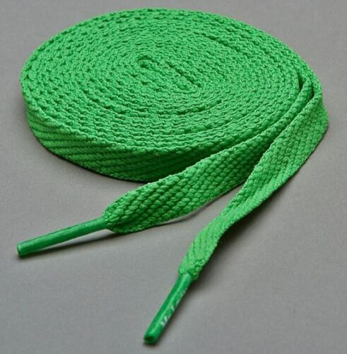Laces Mr Lacy Flatties Kelly Green High quality flat shoelaces 130 cm long