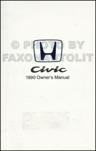 1990 Honda Civic Owner/'s Manual Orignal Sedan and Hatchback OEM Owner Guide Book