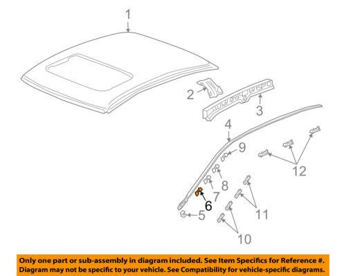 73166SEA003 Acura OEM 04-08 TSX Roof Molding Clip Left