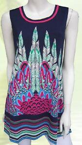 Tunic-Top-Blue-Pink-Drape-Plus-Size-10-12-14-16-18-20-EVERSUN-Paisley-Floral
