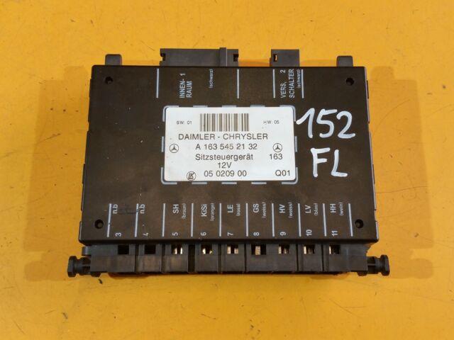 MERCEDES ML 270 CDI W163 2004 FRONT SEATS CONTROL MODULE A1635452132 FL