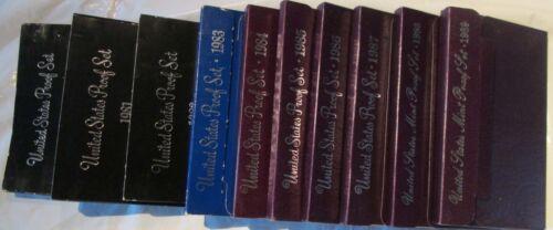 1980 1981 1982 1983 1984 1985 1986 87 88 1989  Proof Sets 10 S Mint Proof Sets
