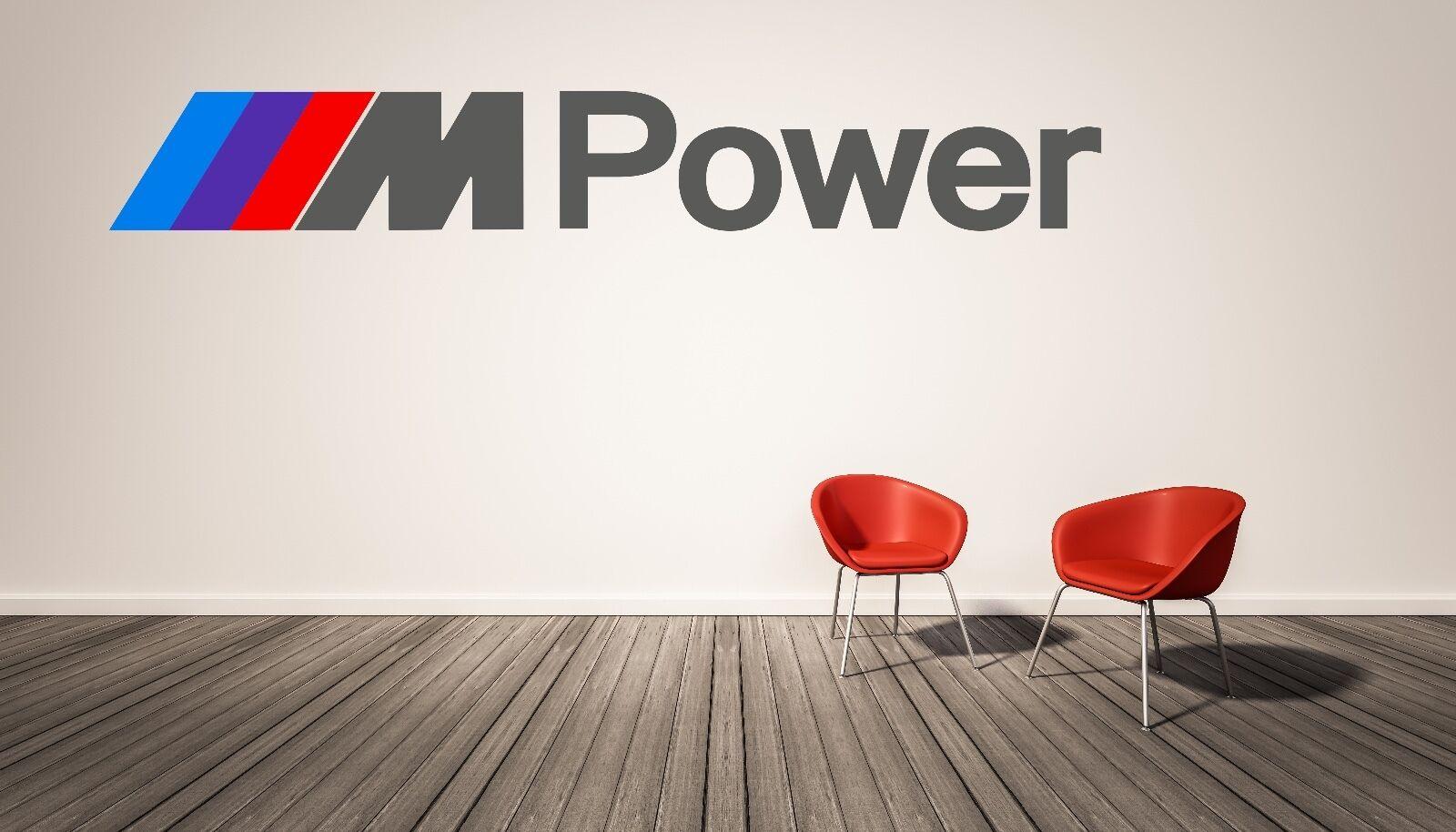 BMW M Power Logo  Wall Decal M Series Luxury Race Sports Cars Home Decor Vinyl