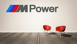 BMW M Power Logo Wall Decal M Series Luxury Race Sports Cars Home - Sporting wall decals
