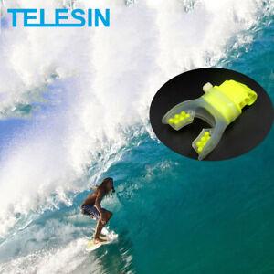 TELESIN Surfing Skating Shoot Dummy Bite Mouthpiece Holder Mouth Mount Adapter for GoPro Hero 5 Black,Hero 5 Session,Hero 4 Session 4//3+//3//2//1 Camera,SJ Cam,Xiaomi Yi