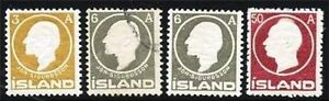 ICELAND'11/12 SIGURDSSON/KING SC#87,89,95 MH/USED CV$60.00