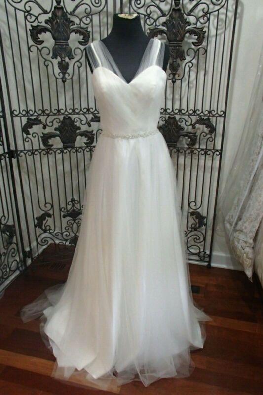 1154w Mondlicht Sz 14 Elfenbein Formelle Wulstig Brautkleid Kleid üPpiges Design