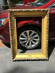 Antique Museum Quality Wood Gilt Fancy Frame For Painting 31 316 X