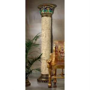 """95.5"""" Ancient Egyptian Giant Column W/ hand-scribed hieroglyphics Architectural"""