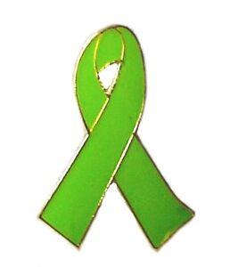 Non-Hodgkins-Lymphoma-Lime-Green-Awareness-Ribbon-Pin-New
