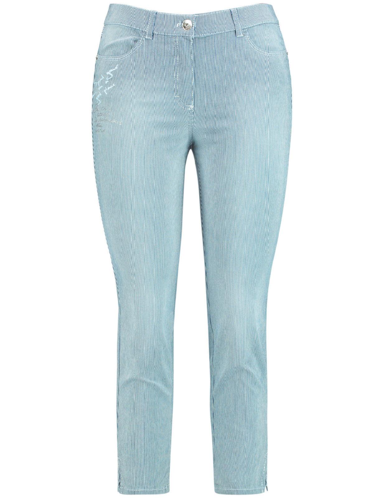 Samoon leichte 7 8 Jeans Hose Betty by Gerry Weber mit Streifen Neu Damen Gr.52