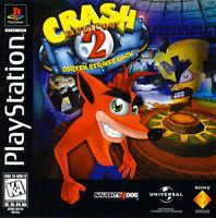 Playstation One Ps1 Crash Bandicoot 2 Box Cover Photo Wall Poster Decor