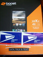 3 Day USPS Lot of 3 Boost Mobile  LG K3 4G LTE 4.5 inch +2 Cams Boostmobile