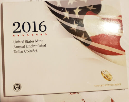 2016 U S Mint Annual Uncirculated Dollar Coin Set W Silver Eagle Low Mintage