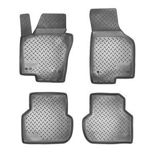Alfombrillas de goma 3D para VW Jetta VI BJ 2010 - 2018 ajuste con borde
