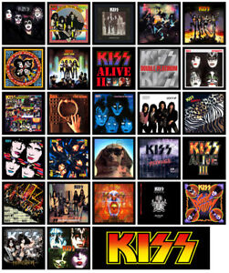 Details about KISS multi pack of 27 album cover refrigerator magnet set lot  (full discography)