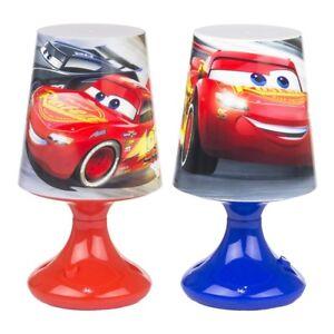 Lampe-de-Chevet-Boule-DISNEY-CARS-Enfant-Chambre-en-Bleu-Rouge-LQ2010