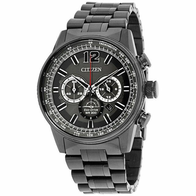 Citizen Men's CA4377-53H 'Nighthawk' Chronograph Grey Stainless Steel Watch