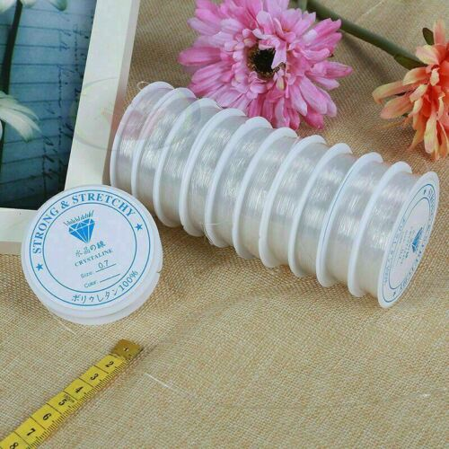 Pulsera de Cordón Elástico Elástico Cuentas Hilo Cadena para joyería haciendo 0.4-1.0