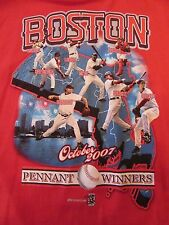 BOSTON RED SOX 2007 October Pennant Winners L/S Red T Shirt Size XL