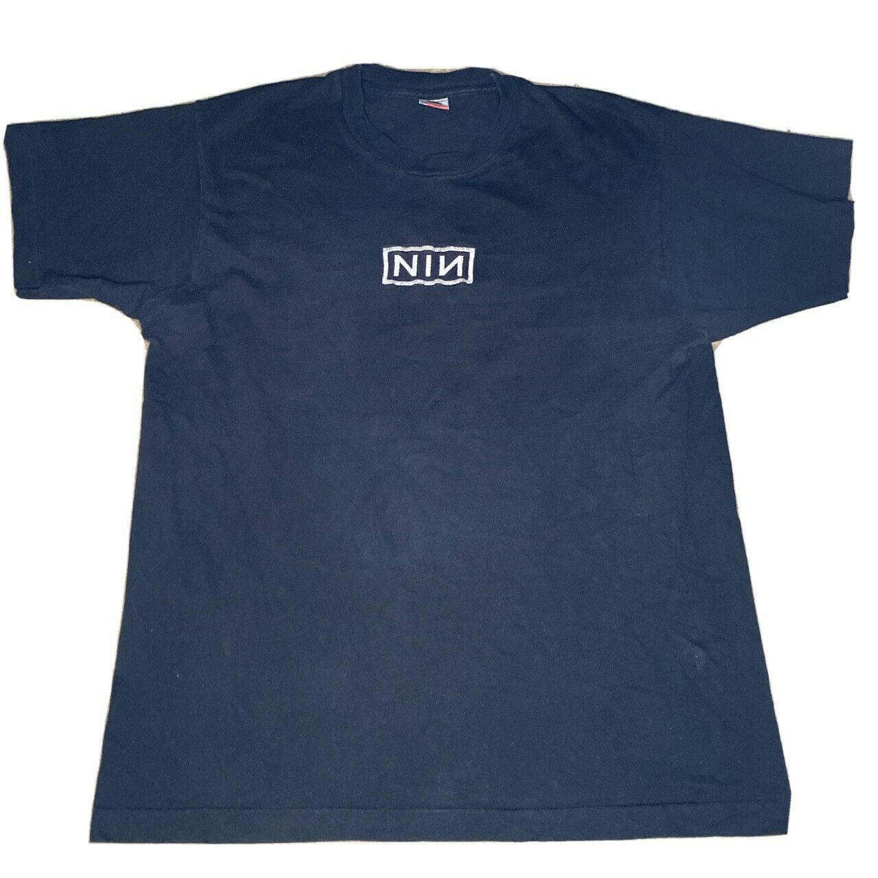 VTG 90s Nine Inch Nails Black T-Shirt sz XLarge P… - image 1