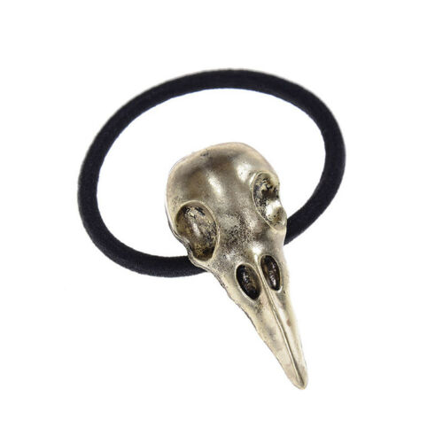 Halloween-Silber-Vogel-Schädel-Haar-Bindung Pest-Doktor-Krähe-Elastisch Band ox