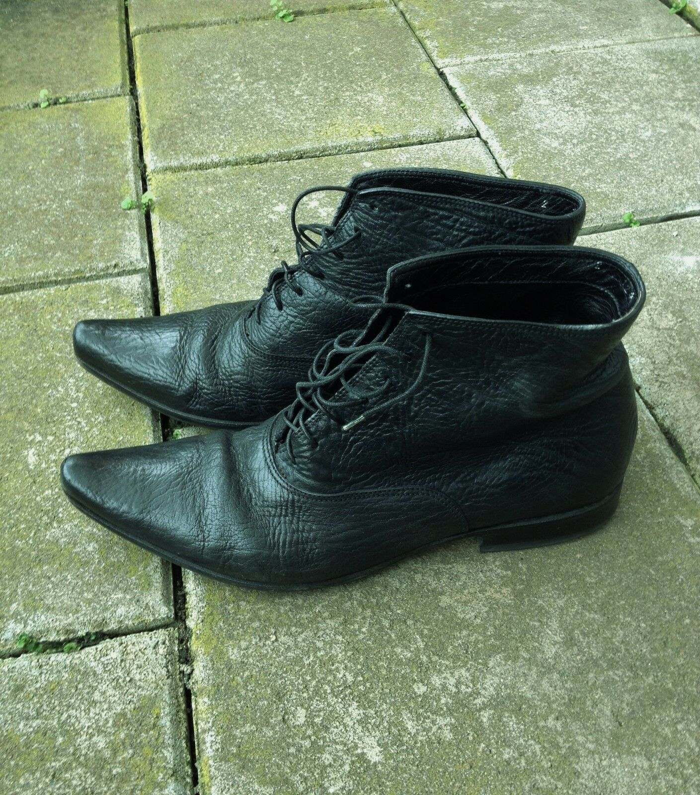 GIANNI BARBATO Black Leather Ankle Boots M - EU 40 (US 7)