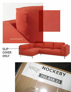 Image Is Loading IKEA NOCKEBY Loveseat W LEFT Chaise RISANE ORANGE