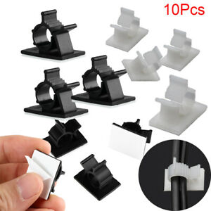 Clamp Plastic Self-adhesive Fixer Holder Buckle Line Wire Management Cable Clip