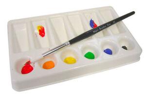 Artista Pittura Unire Palette 6 Rotondo & 6 IN Pendenza Poco Profonde Incavi