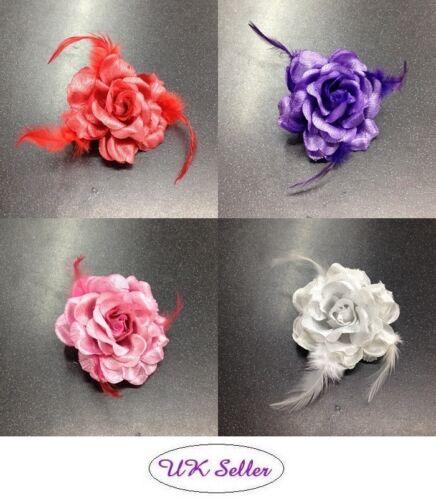 2 x beau brillant fleur partie Mariage Noël Demoiselle d/'honneur cheveux clip broche