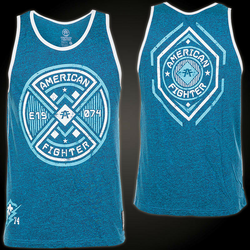 AMERICAN FIGHTER Affliction Tank Top Macon Blau Herren