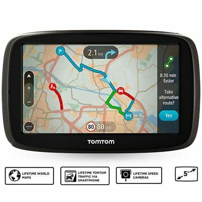 TomTom GO 51 5in GPS Sat Nav - Worlwide LT Maps & Traffic Via Smartphone (A)