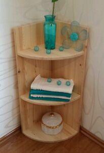 Badezimmer Holz Eckregal Bad Regal Badezimmerregal Wandregal NEU ...
