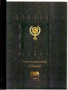 image is loading 1991-1992-cadillac-allante-service-shop-repair-manual-