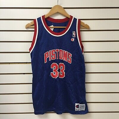 finest selection 7647d 23d96 Vintage Detroit Pistons Grant Hill Champion Jersey Sz Youth Sz XL | eBay