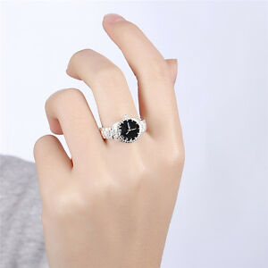 Fashion-White-Dial-Stainless-Steel-Silver-Alloy-Womens-Finger-Ring-Watch-Pattern