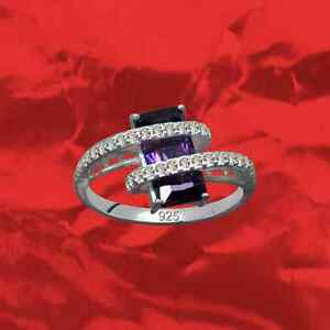 Exclusif-Art-Deco-Bague-Veritable-925-Argent-Sterling-Zircon-Strass-Cristal