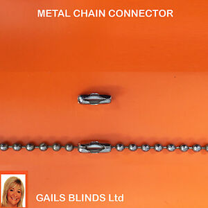 Vertical Blind Spare Parts 4 Metal Chain Connectors Joiner