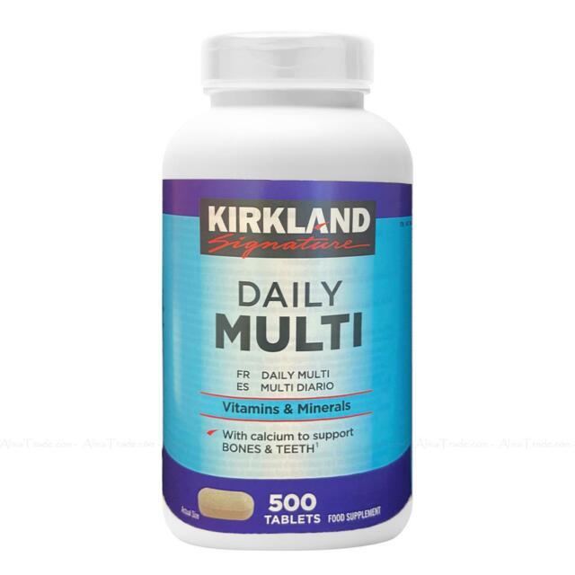 Kirkland Signature Daily Multi Vitamins & Minerals Nutritional Health 500Tablets